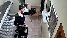 Sexy Short Haired Girl on Hidden Camera