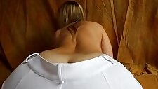 Sexy amateur blonde college Girl Teasing Her Nice Booty