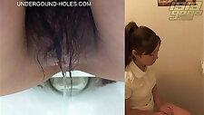 Cute girl peeing v.