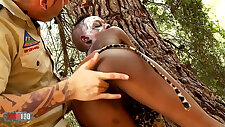 African Sex Safari with babe loves sucking fucking white guy