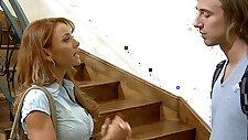 Hottie teacher Janet Mason gets facialized