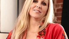 Hot blonde amateur milf julia ann showing off her stockings
