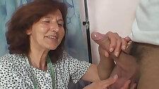 Sewing granny takes huge black hard cock