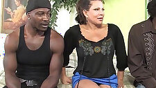 Teri Weigel takes black monster cocks in front of her son