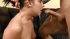 Miserable slut Brittany Shae throated degraded
