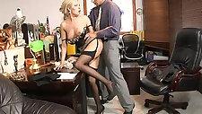 Teamskeet Sexy blonde Donna Bell office deepthroat and anal sex