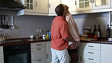 Hot blonde cam girl nicole bexley with her perfect body writhes on kitchen floor
