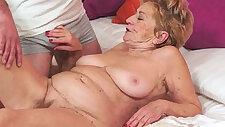 Kinky old granny loves big dick