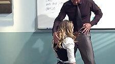 Kagney Linn Karter Horny For Italian Teachers Cock