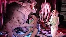 Freak Monsters Bang 3D Girls!