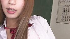 Horny brunette Teen Sana Anju Gets Naughty In Class