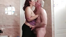 Horny fat whore goes crazy sucking