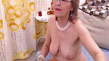 Granny fills both of her holes with toys