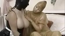 Gimps in a latex fetish porno movie
