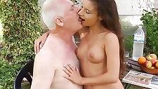 Little pervert seduce and fuck old man