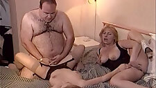 Lucky old fat man fucks two chicks