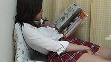 Aki Kawana Masturbation reading a naughty book