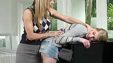 Huge natural big boobs piano teacher horny threesome sex scene with teens